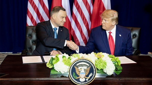 Trump participates in a signing ceremony with Polish President Andrzej Duda Monday. (Official White House Photo by Joyce N. Boghosian)