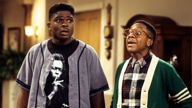 "Jaleel White (right) and Darius McCrary in ""Family Matters"" circa 1993."