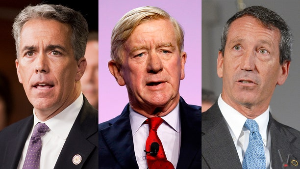 Former Rep. Joe Walsh of Illinois, former Massachusetts Gov. Bill Weld and former South Carolina governor Mark Sanford have been invited to participate in a debate Sept. 24 (Getty)
