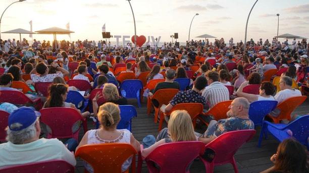 Beit Tefilah Israeli holding weekly services as the Kabbalat Shabbat on the Tel Aviv Port.
