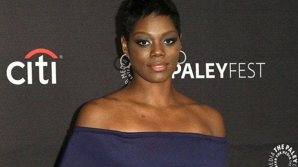 """This Sept. 8, 2018, file photo shows Afton Williamson attending the PaleyFest Fall TV Previews of """"The Rookie"""" at The Paley Center for Media in Beverly Hills, Calif. The producer of ABC's """"The Rookie"""" says actress Williamson's claims of on-set misconduct against her weren't substantiated by an independent investigator."""