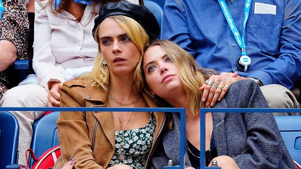 Cara Delevingne and Ashley Benson attend the 2019 US Open Women's final on Sept. 07, 2019 in New York City.