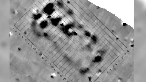 These magnetic anomalies in the soil at a site called Maidanetske clued the researchers into the existence of the megastructure that they eventually decided to excavate. (Credit: Robert Hofmann, et al/CC by 4.0)