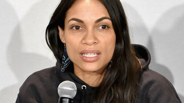 Actress Rosario Dawson at a Fashion Week event on February 9, 2019 in New York City.