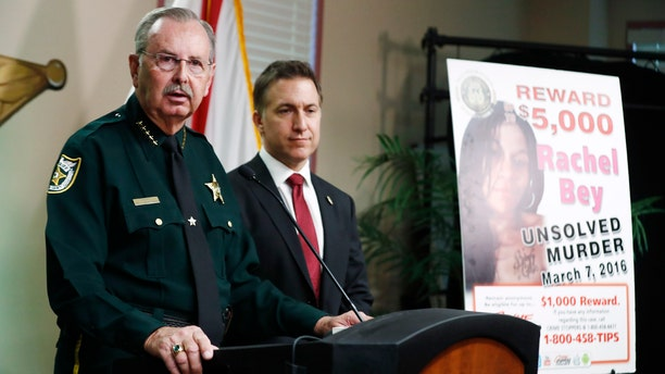 Palm Beach County Sheriff Ric Bradshaw speaks during a news conference on Monday, Sept. 16, 2019, in West Palm Beach, Fla.