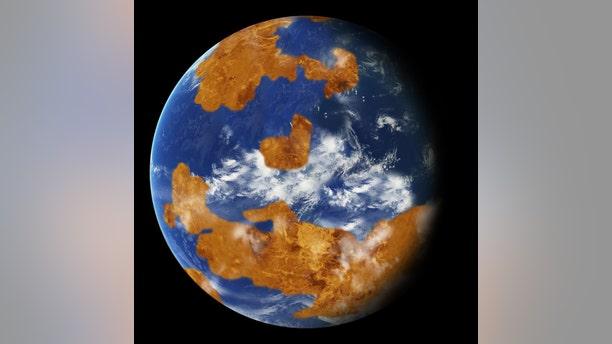 Artist's representation of Venus with water. Credit: NASA
