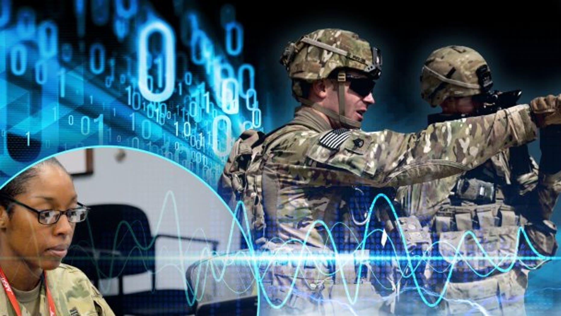 Army electronic warfare photo illustration. (Photo Credit: U.S. Army photo illustration by Justin Rakowski)