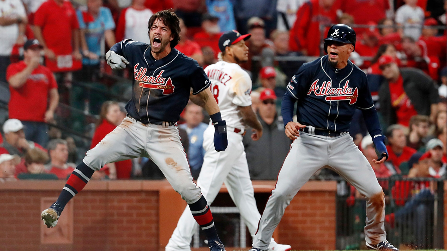 Westlake Legal Group MLB-Dansby-Swanson Duvall, Braves rally in 9th to beat Cards 3-1, lead NLDS 2-1 fox-news/sports/mlb/st-louis-cardinals fox-news/sports/mlb/atlanta-braves fox-news/sports/mlb-postseason fox-news/sports/mlb fnc/sports fnc b190e35f-fc99-5218-8bf2-00f2ff620a41 Associated Press article