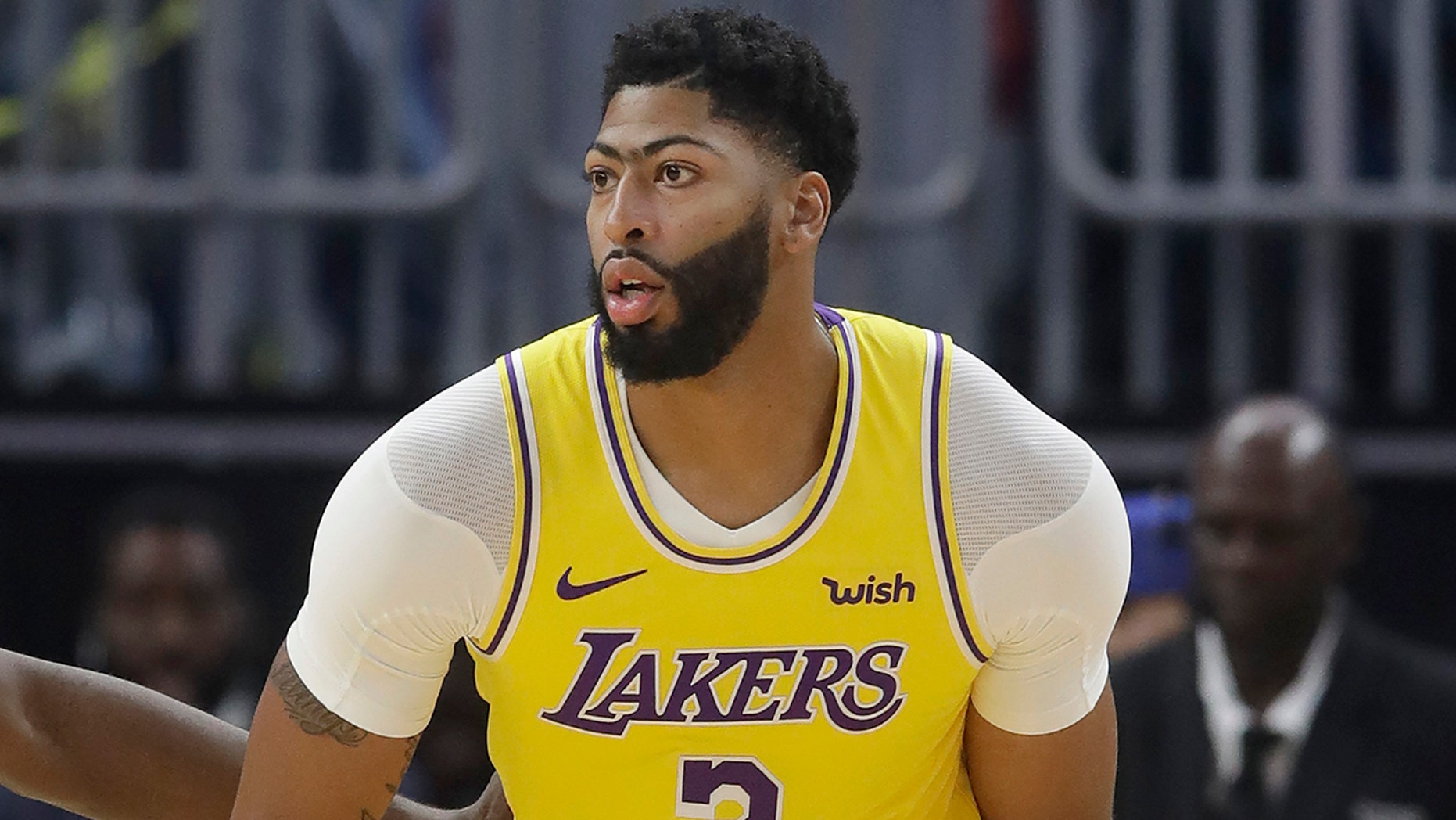 Westlake Legal Group NBA-Anthony-Davis4 Lakers' Anthony Davis grateful thumb injury isn't serious fox-news/sports/nba/los-angeles-lakers fox-news/sports/nba fox-news/person/anthony-davis fnc/sports fnc Associated Press article 3519a4f9-53dc-53a2-a7b8-cc262e449da9