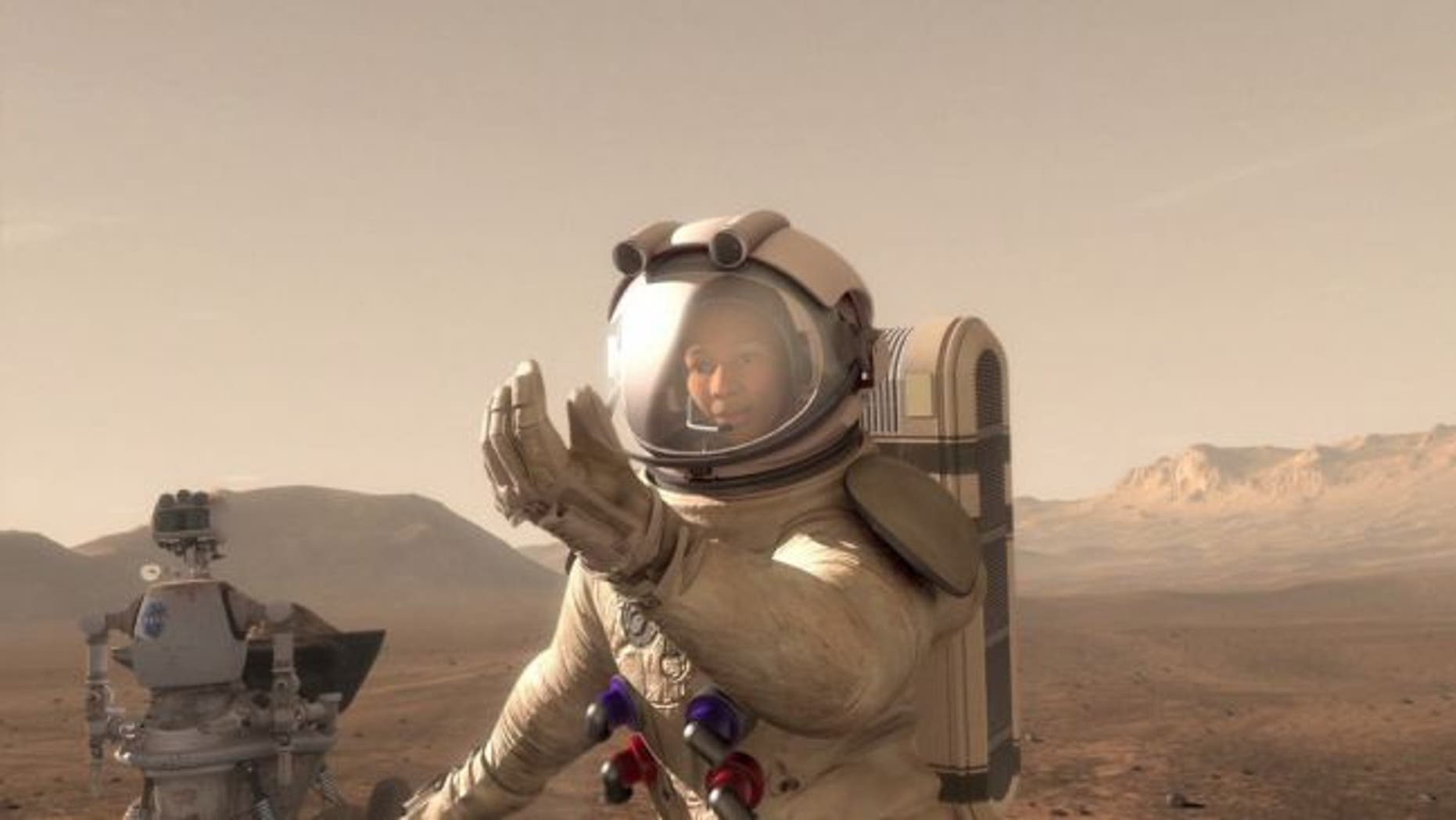 NASA Administrator Jim Bridenstine says the first astronaut to walk on Mars could be a woman. (Credit: NASA)