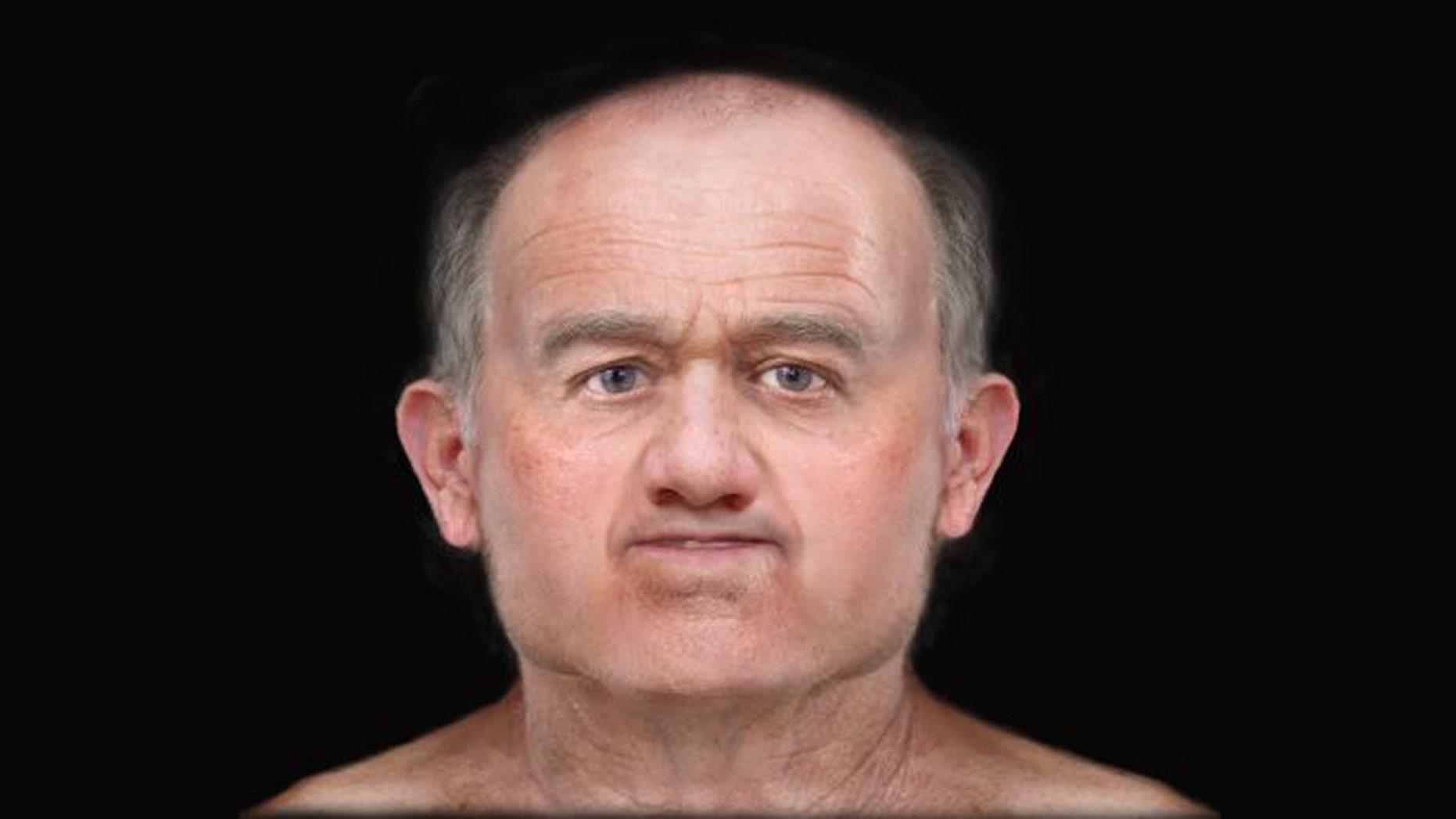 A digital facial reconstruction reveals the face of