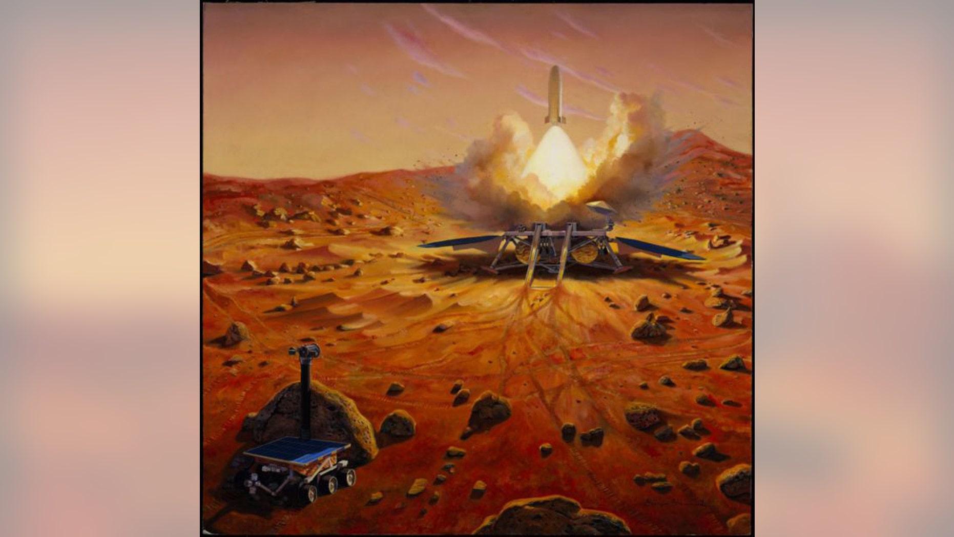 An artist's depiction of a Mars sample-return mission. (Image: © NASA/JPL)