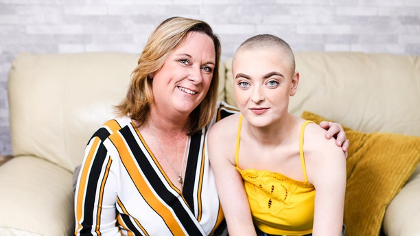 Burgeen, pictured with her mom, also shared the photo of the clot with her social media following, where it went viral.