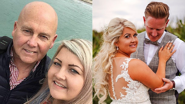 "Charlotte Walton, 26, had hoped that her father Mick would be able to walk her down the aisle at her august wedding to now-husband Nick, but it ""wasn't meant to be."""