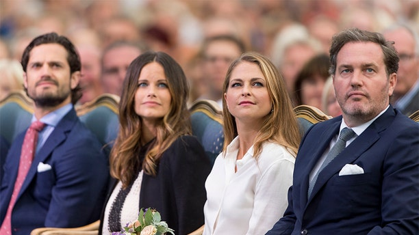 Prince Carl Philip of Sweden and Princess Sofia of Sweden with Princess Madeleine of Sweden and Christopher O'Neill attend a concert at the 39th birthday celebrations for Crown Princess Victoria on July 14, 2016, in Oland, Sweden.