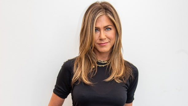 """BEVERLY HILLS, CALIFORNIA - AUGUST 15: Jennifer Aniston at """"The Morning Show"""" Press Conference at the Wallis Annenberg Center for the Performing Arts on August 15, 2019 in Beverly Hills, California."""
