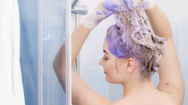 """The new craze — which is currently taking off on TikTok — is less of a """"challenge"""" and more of a trend, as most users appear to simply be pouring purple shampoo onto their heads in the hopes of changing the appearance of their hair."""