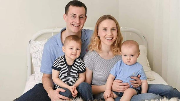 The Thomas family: Blake, 31, Sarah, 30, Kayden, 3, and Elliott, 1.