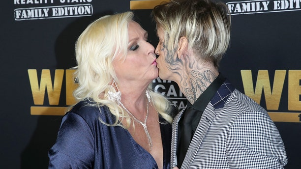 "Jane Carter and Aaron Carter attend WE tv Celebrates the 100th Episode of the ""Marriage Boot Camp"" reality stars franchise and the premiere of ""Marriage Boot Camp Family Edition"" at SkyBar at the Mondrian Los Angeles on October 10, 2019 in West Hollywood, California."