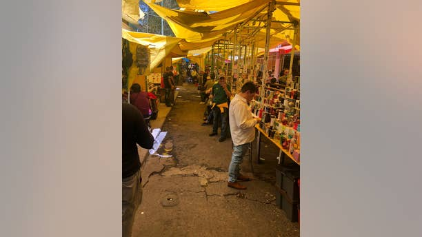 One of the most dangerous pockets of Mexico City: Teptio, the primary-black market area, under the thumb of the Union Cartel.