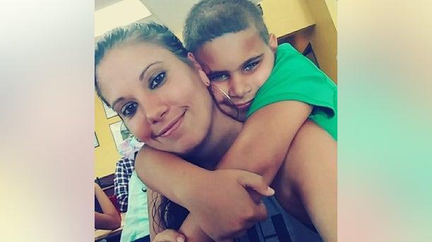 Nicole Montalvo with her son Elijah, before her brutal murder in Florida in October