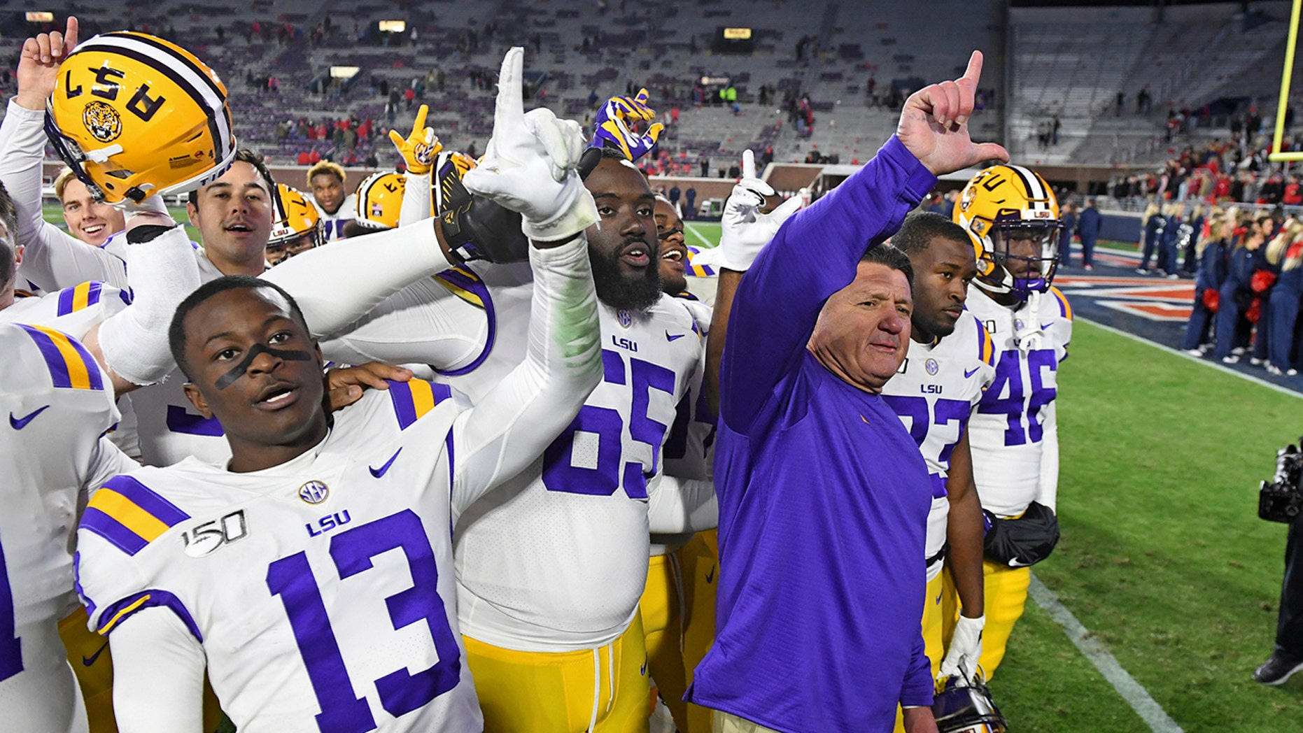 Westlake Legal Group Ed-Orgeron LSU, Ohio State, Clemson, Georgia remain atop CFP rankings fox-news/sports/ncaa/ohio-state-buckeyes fox-news/sports/ncaa/lsu-tigers fox-news/sports/ncaa/georgia-bulldogs fox-news/sports/ncaa/clemson-tigers fox-news/sports/ncaa-fb fox-news/sports/ncaa fnc/sports fnc Associated Press article 9f3c09c8-236c-5491-bbc0-b204daf71ef8