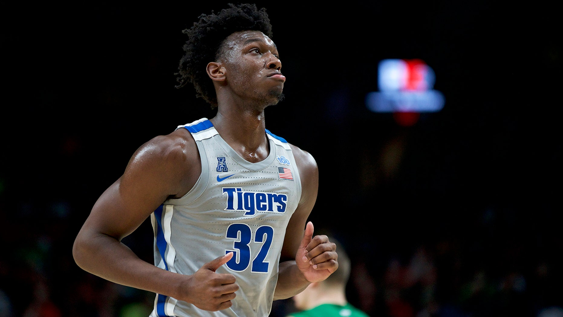 Memphis center James Wiseman runs off the court during the second half of an NCAA college basketball game against Oregon in Portland, Ore., Tuesday, Nov. 12, 2019. Oregon won 82-74. (AP Photo/Craig Mitchelldyer)