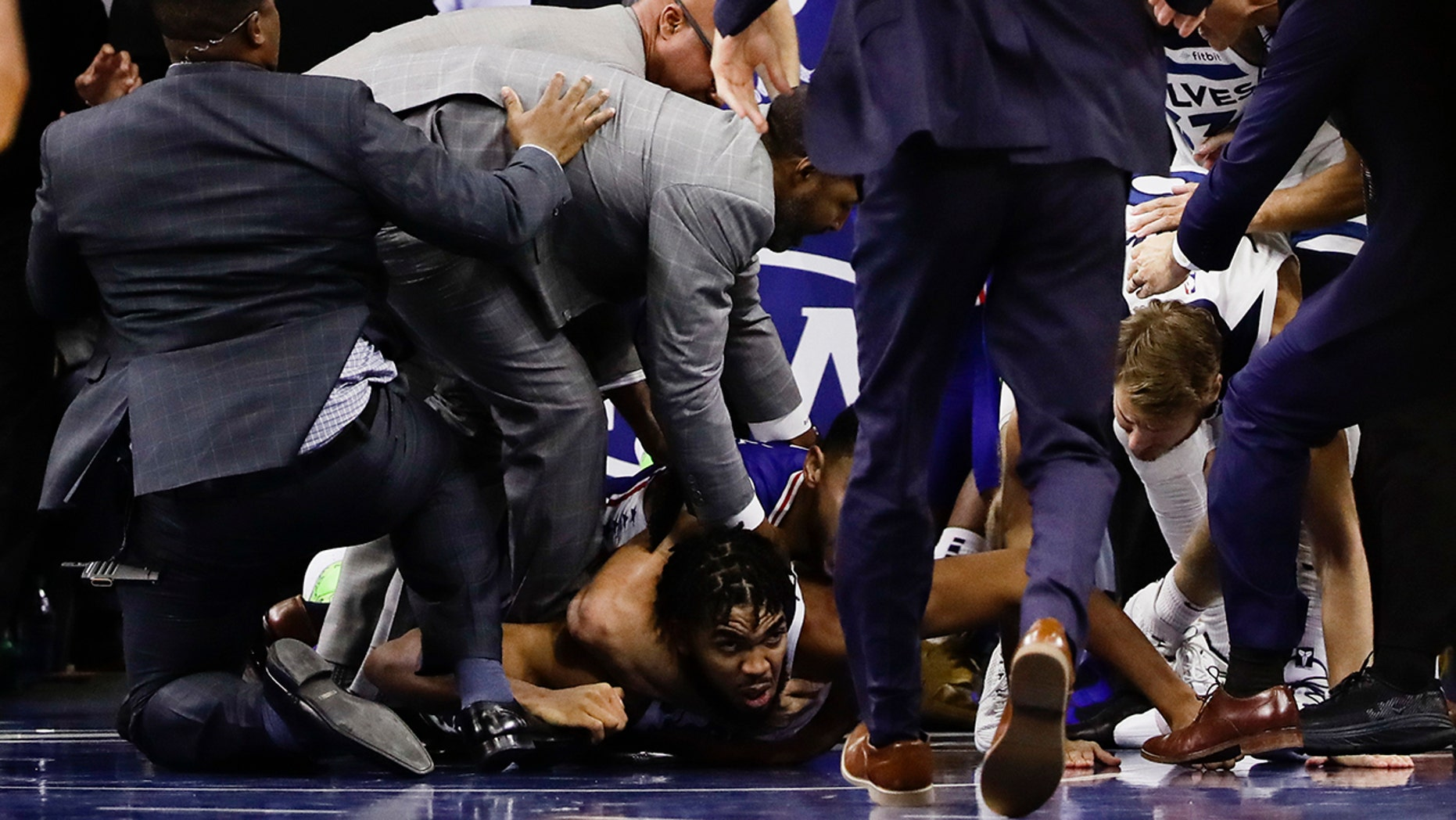 Basket-brawl: National Basketball Association  stars Joel Embiid, Karl-Anthony Towns ejected for fighting