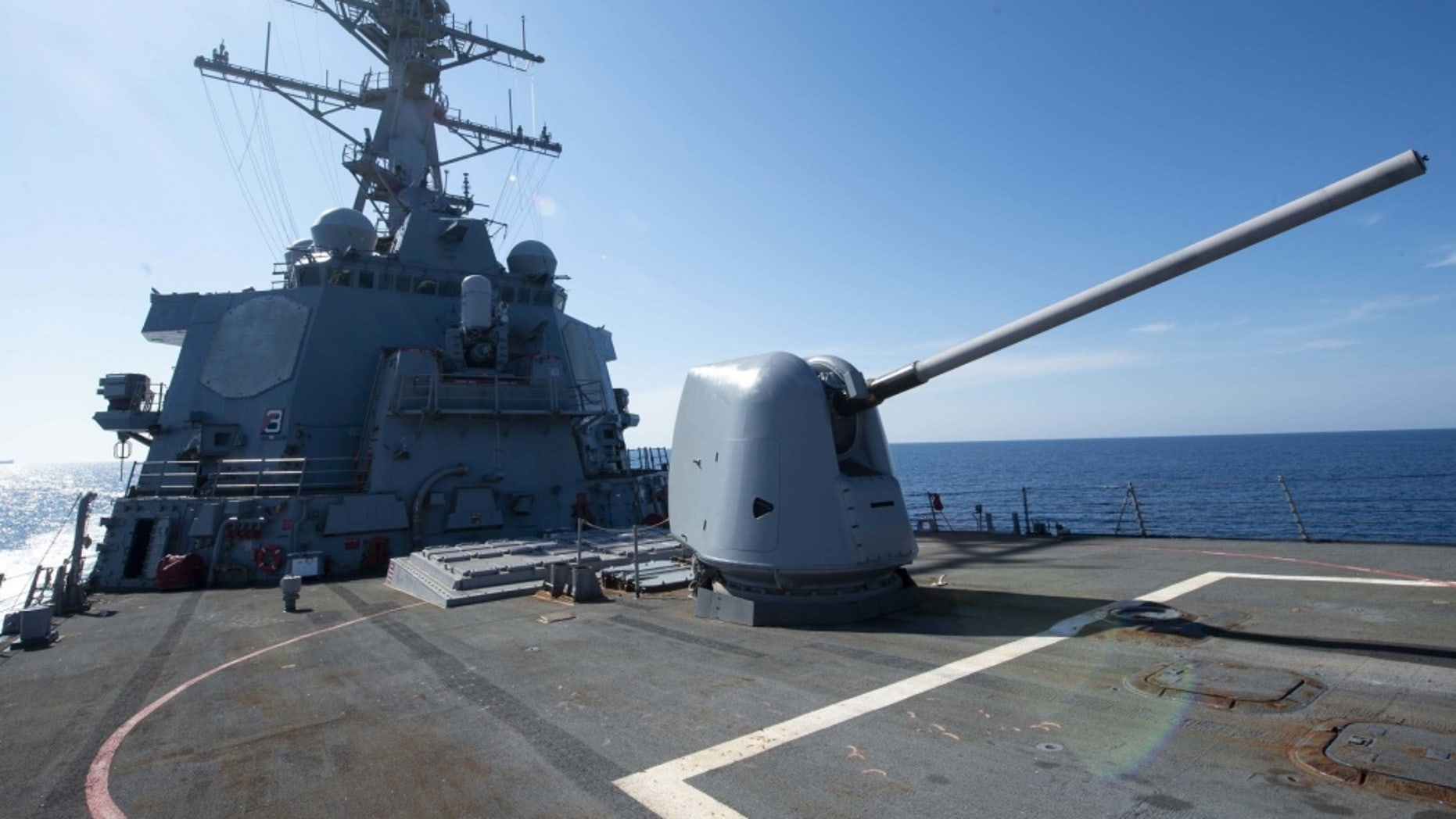 The Arleigh Burke-class guided-missile destroyer USS Arleigh Burke (DDG 51) transits a Mediterranean Sea Sept. 22, 2018 -file photo.