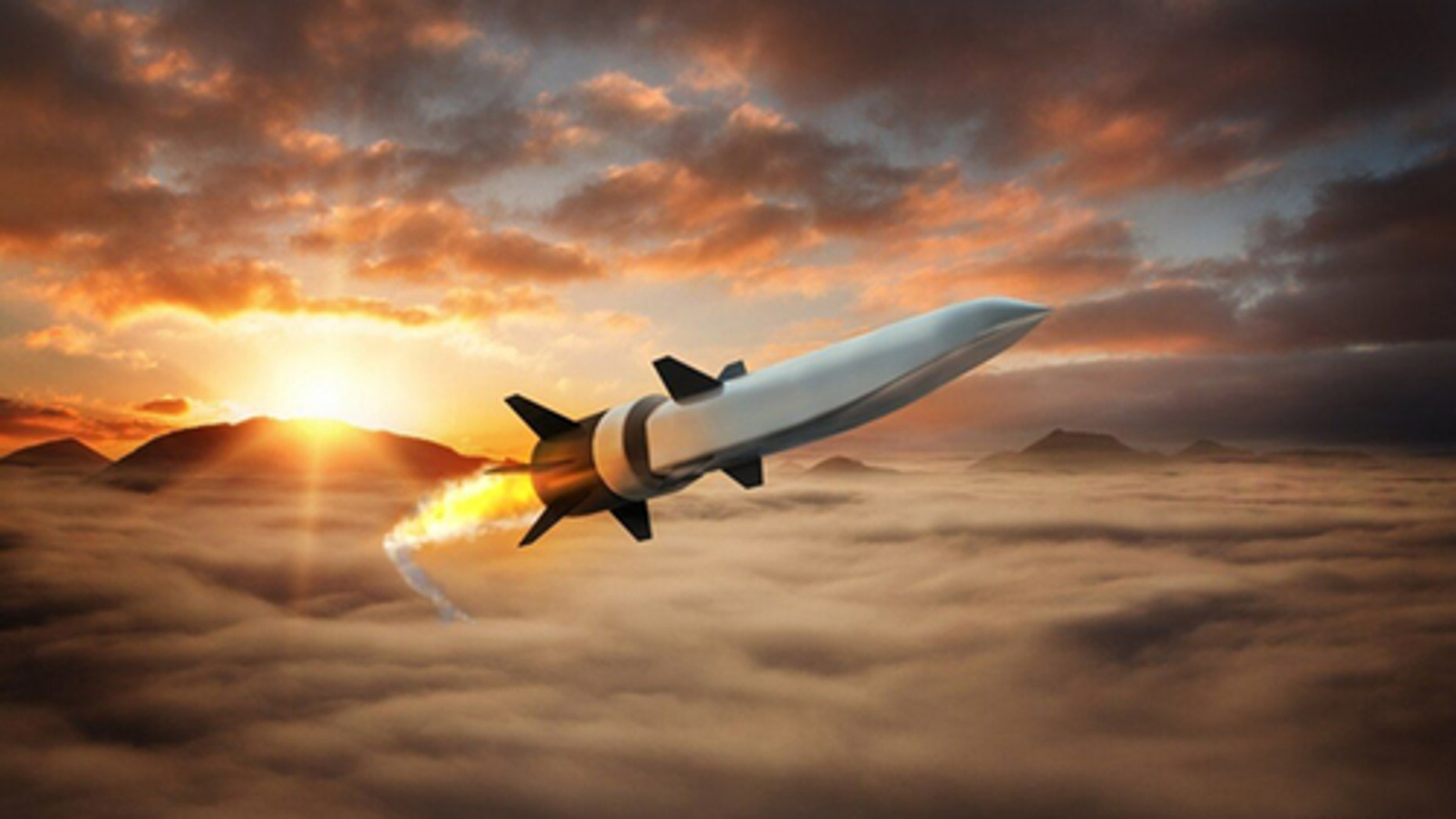 Artist's impression of the hypersonic weapon.