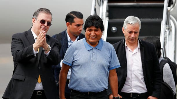 Former Bolivian President Evo Morales arrives in Mexico City Tuesday. (AP Photo/Eduardo Verdugo)