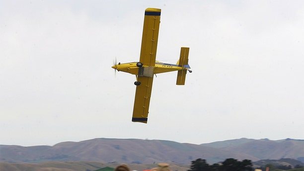 "An Air Tractor AT 602 (like this one) crashed on Sept. 7 in Turkey, a small city just 90 miles west of the Oklahoma border, after slowing down too much in order to dump out ""350 gallows of pink water"" as a part of a gender reveal,  the National Transportation Safety Board said."