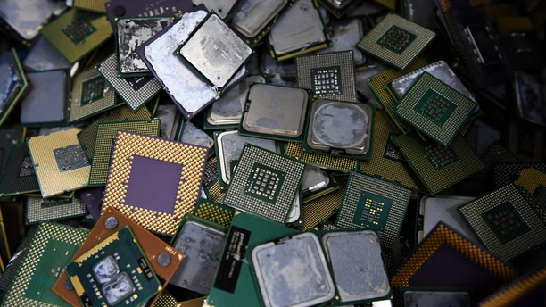 This photo taken on January 19, 2017 shows removed computer CPUs (central processing units) at the Tokyo Eco Recycle company in Tokyo - file photo.