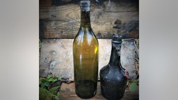 The bottles were recovered from the wreck of the Swedish steamer S/S Kyros.