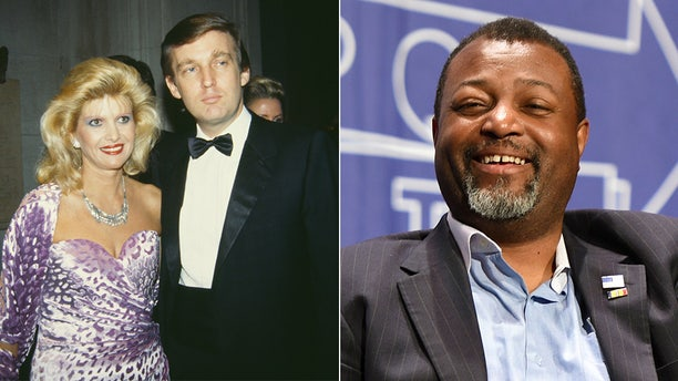 Malcolm Nance, right, claimed President Trump had been compromised by Russia as early as the start of his first marriage, to Ivana Trump.