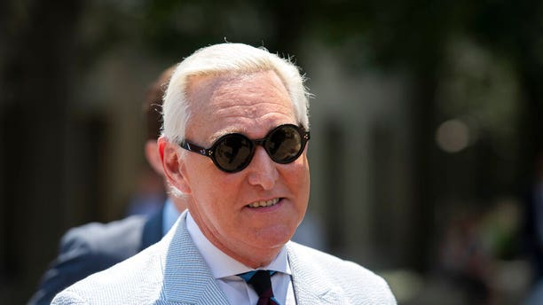 Roger Stone leaves federal court in Washington, D.C., on July 16, 2019. (AP Photo/Sait Serkan Gurbuz, File)