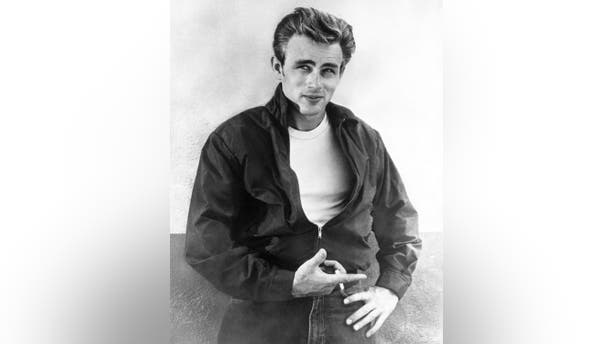 Actor James Dean poses for a Warner Bros publicity shot for his film 'Rebel Without A Cause' in 1955 in Los Angeles, California. (Photo by Michael Ochs Archives/Getty Images)
