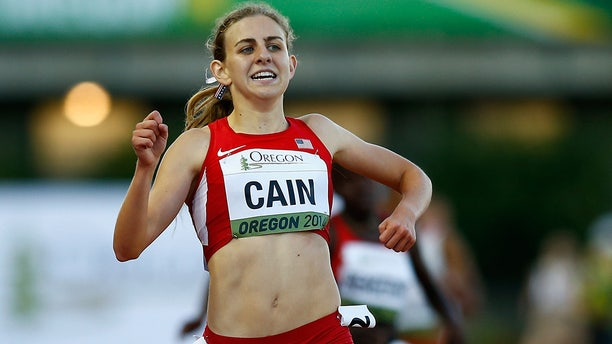 Mary Cain of the U.S. runs during the 3000m final during day three of the IAAF World Junior Championships at Hayward Field on July 24, 2014 in Eugene, Oregon.