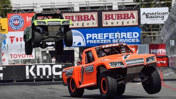 Stadium Super Trucks are part of Long Beach, California's annual street racing events.