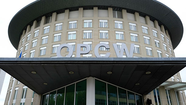 The headquarters of the Organization for the Prohibition of Chemical Weapons in The Hague, Netherlands. (AP/File)