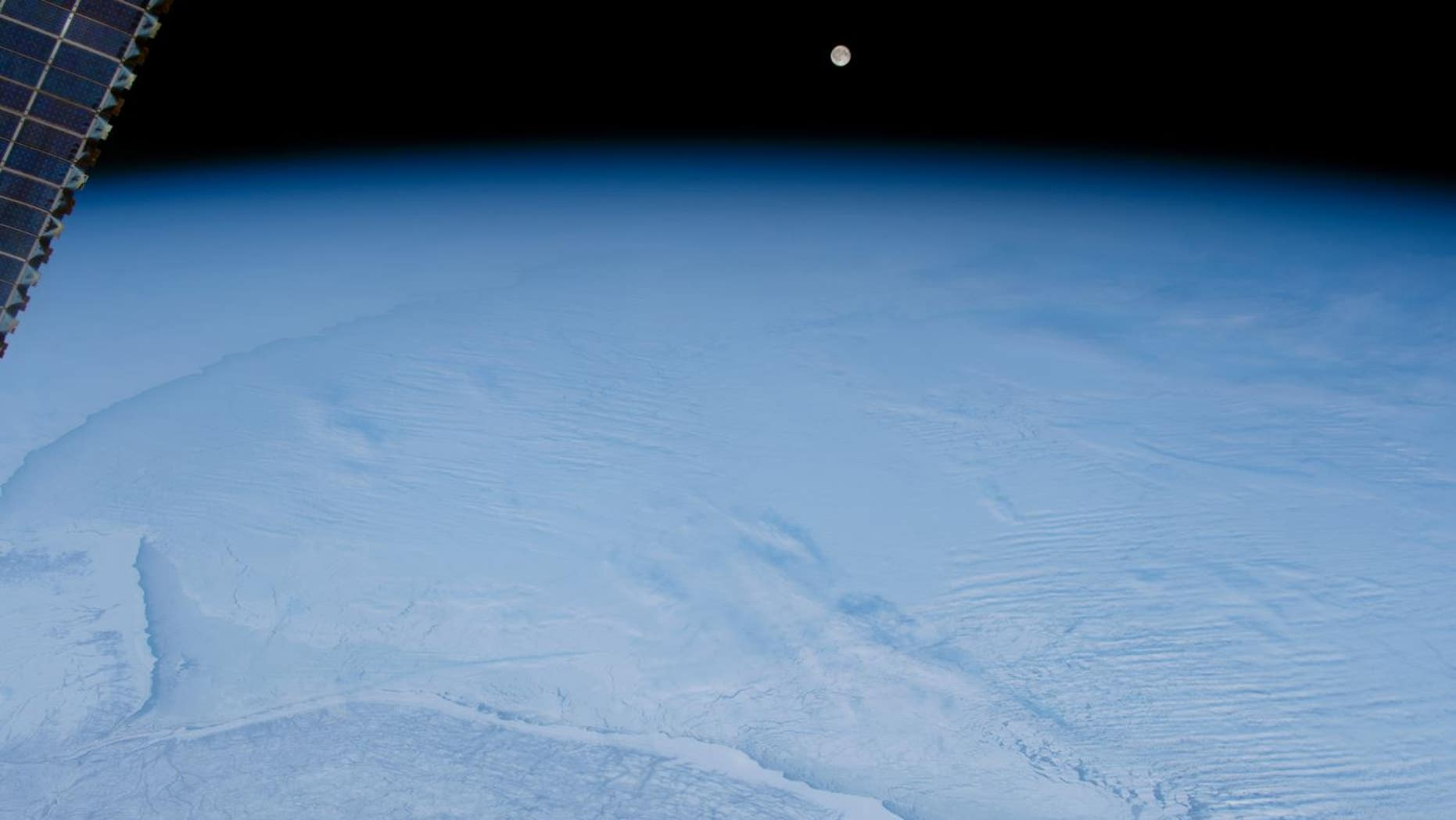 The above image was taken by a NASA astronaut on board the International Space Station.