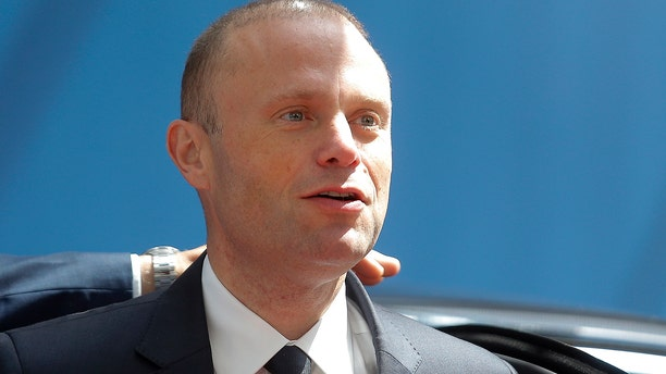 Muscat said Sunday that he would resign in January following pressure from citizens for the truth about the 2017 car bombing that killed a journalist. (Julien Warnand/Pool via AP, File)
