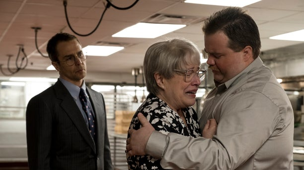 "Sam Rockwell, Kathy Bates and Paul Walter Hauser in a scene from ""Richard Jewell."" (Claire Folger/Warner Bros. Pictures via AP)"