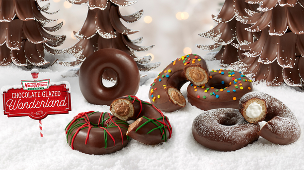 The chain'sChocolate Glazed Wonderland Collection will be available to three days starting Friday, Dec. 6.