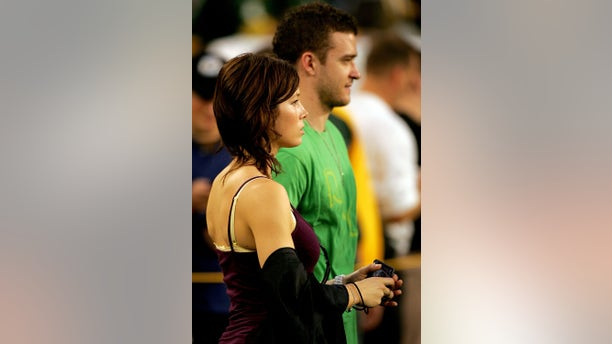 The two were spotted at a Green Bay Packers game in October 2007. (Photo by Matthew Stockman/Getty Images)