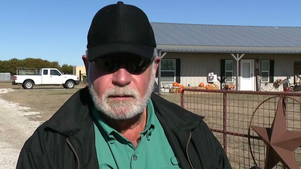 Jack Wilson speaks to reporters outside his home in White Settlement, Texas on Monday.