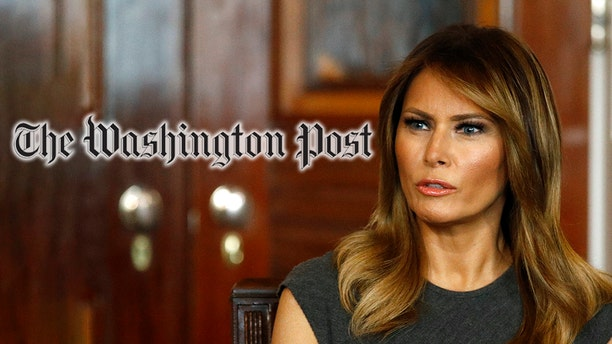 """A Washington Post columnist suggested first lady Melania Trump may have been sending """"messages"""" with her fashion choices. (AP Photo/Patrick Semansky, Montage)"""