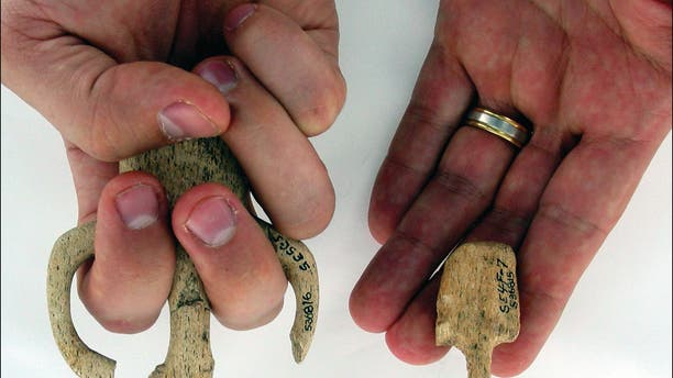 Different-sized Atlatl grips discovered at Par-Tee.