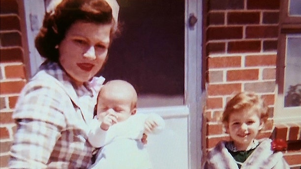 Patsy Cline with her children Randy and Julie.