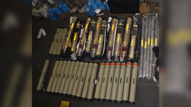 Suspected Iranian missiles headed for Yemen